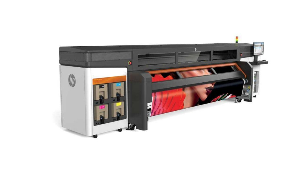 HP demonstrated HP Stitch S1000 large format dye-sublimation