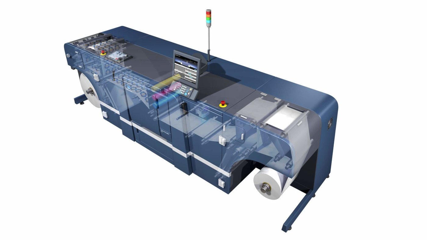 AccurioLabel 230 – new label roll paper printing machine introduced by Konica Minolta